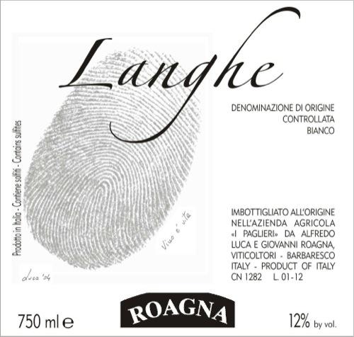 Roagna Langhe Blanco 2012